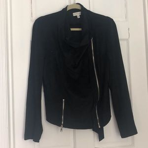 Neiman Marcus black suede moto jacket - like new.